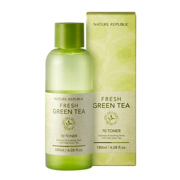 Nước Hoa Hồng Nature Republic Fresh Green Tea 70 Toner