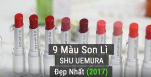 bảng màu son Shu Uermura