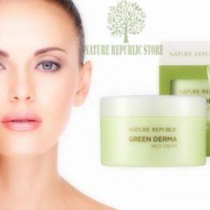 Bộ Sản Phẩm Dưỡng Da Nature Repuclic Green Derma Mild Cream(Special Set)