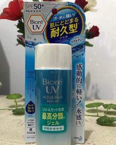 Kem chống nắng Biore UV Aquarich Watery Gel Spf50+/pa++++ 90ml dành cho da dầu & Mụn
