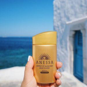 Kem chống nắng Anessa shiseido màu Vàng cho [Da Dầu, Da Nhờn] Của Nhật
