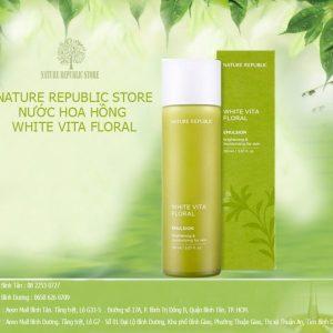 Nước Hoa Hồng Nature Republic White Vita Floral Toner