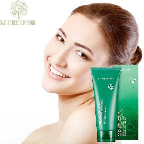Sữa Rửa Mặt Tạo Bọt Nature Republic Collagen Dream Vitamin C Capsule Foam Cleanser