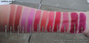 Son Mac dòng Mineralize Rich Lipstick