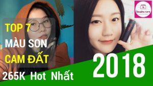 Top 7 Son Màu Cam Đất: 3CE, MAC, Espoir Màu Cam Đất 265K (Hot 2018)