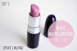 Son Mac Matte Pink Plaid Lipstick