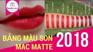 Bảng màu son Mac Matte