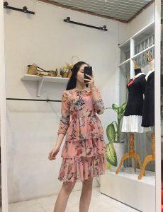 Váy xòe liền thân đẹp