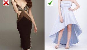 Trang phục không nên mặc đi đám cưới: rách, cắt xẻ, đồ ngủ xuyên thấu bên trong.