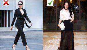 Những bộ đồ quần áo màu đen cần tránh
