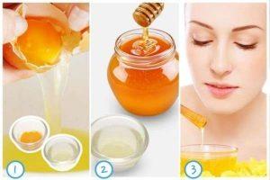 Cách làm trắng da mặt bằng trứng gà và mật ong, chanh
