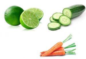 Cách làm trắng da mặt tự nhiên nhanh nhất bằng Cà rốt + dưa chuột + Chanh
