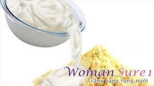 Cách làm trắng da toàn thân tự nhiên không bắt nắng với sữa đông và bột gram