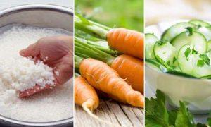 Cách làm trắng da toàn thân cấp tốc tại nhà bằng nước vo gạo, cà rốt và dưa chuột