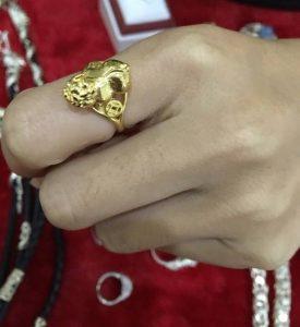 Nhẫn tỳ hưu bằng vàng 18k 14k 10k theo phong thủy