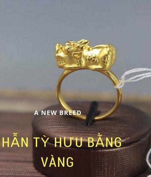 Nhẫn tỳ hưu bằng vàng