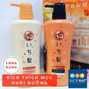 dầu gội kích thích mọc tóc cho nam ichikami màu cam
