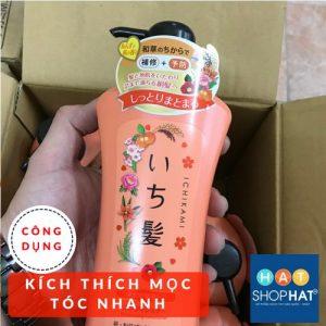 dầu gội trị rụng tóc của nhật ichikami màu cam