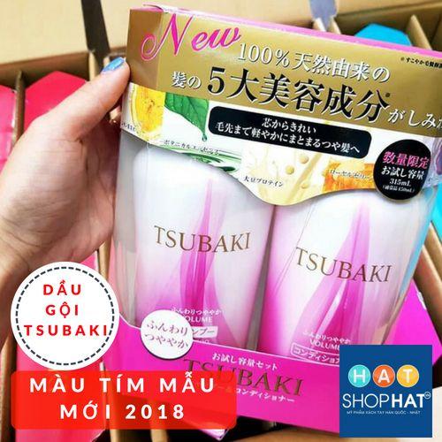 dầu gội tsubaki màu tím mẫu mới 2018